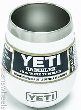 Yeti Rambler 10oz Wine Tumbler White Insulated Cup Free Shipping