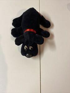 Vintage Pound Puppies Black Dog - Tonka 1986 Puppy 7 inches