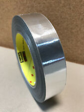 "3M 363 Silver Aluminum Foil Glass Cloth Tape Hi Temp 1"" x 36yds. (1 roll) 17294"