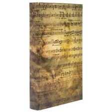 Sheet Music Lined Decorative Storage Book /Box vintage finish. New
