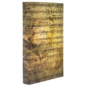 Sheet Music Lined Decorative Storage Book /Box vintage finish. New