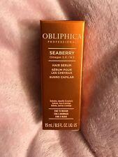 Obliphica Professional Seaberry HAIR SERUM Fine to Medium Hydrates .5 oz NIB