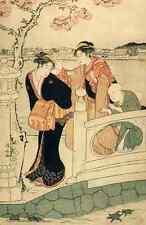 A4 photo Kiyonaga Torii 1752 1815 la promenade lILLUSTRATION 1929 imprimé Poster
