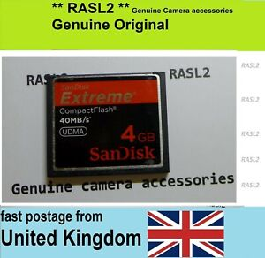 Genuine SanDisk 4 GB CF Compact Flash Memory Card For Alpha A700 A300 A350 RX1