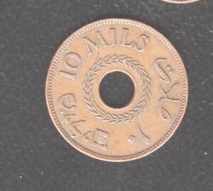 PALESTINE 10 MILLS 1943