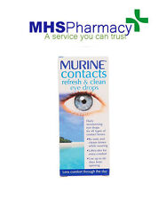 Murine Contacts Refresh (Wet) & Clean Eye Drops 15ml All Types Of Contact Lens