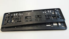 2x KFZ PKW KURZ 46cm Universal Nummernschildhalter Kennzeichenhalter Träger Set