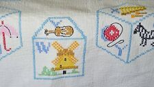 VINTAGE CHILD'S QUILT CROSS STITCH EMBROIDERY UU137