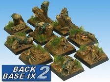 25mm Resin Scenic Bases (10) Square Forest Warhammer