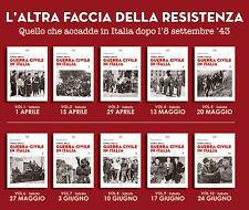 STORIA GUERRA CIVILE ITALIA 1943/45 Giorgio Pisanò Il Giornale 2017 10 volumi