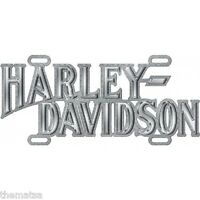 HARLEY DAVIDSON MOTORCYCLE DIE CAST CHROME CAR METAL LICENSE PLATE MADE USA