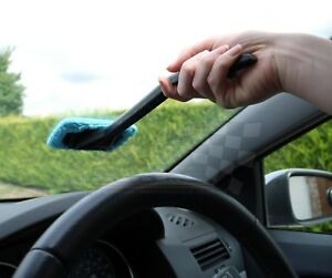 Windscreen Glass Cleaning Microfiber Handle Shine Cloth Demister wipe Tool