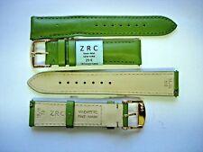 1 Armband ZRC 18 mm grün Handarbeit Gurt handmade racing watch Leder 2bDoré