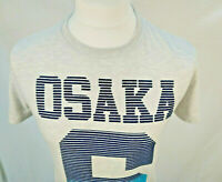 Mens Superdry Grey & Blue Osaka Short Sleeve T-Shirt Small Excellent Condition