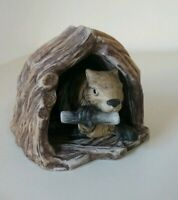 Woodland Surprises Beaver Figurine Jacqueline Smith Franklin Porcelain 1984