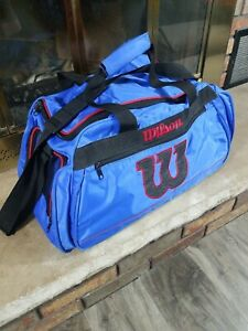 Vintage 90s Wilson Tennis Duffel Shoulder Travel School Bag Gym Sports Camping