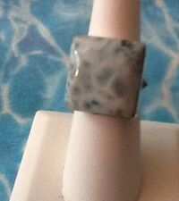 Natural Larimar Ring Solid 925 Sterling Silver Jewelry Size 8.25   #25
