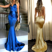 Sexy Women's Halter Evening Cocktail Dress Mermaid Formal Party Prom Ball Gown