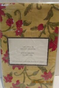"""PotteryBarn """"Colette"""" Maze Yellow with Red Poppy Standard size Pillow Sham...New"""