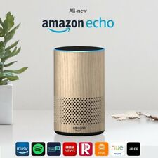 New Amazon Echo Smart Alexa Speaker (2nd generation) - Oak Finish !!!