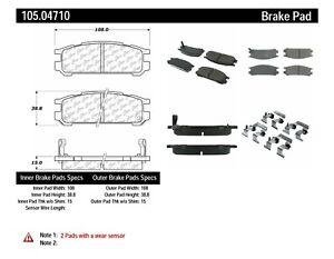 Rr Super Premium Ceramic Brake Pads  Centric Parts  105.04710