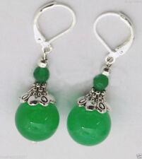 6-12 mm grüne Jade Ohrringe