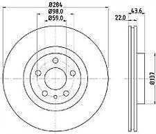 MINTEX FRONT DISC BRAKES PAIR MDC385 FITS ALFA ROMEO FIAT LANCIA OPEL VAUXHALL