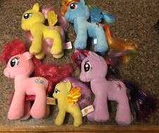 "Lot Ty My Little Pony Plush MLP 7"" Pinkie Pie Twilight Sparkle Rainbow Dash"