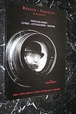 RENAUD GIQUELLO & ASSOCIES PHOTOGRAPHIES LIVRES AUTOGRAPHES DESSINS