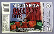 Short's Brew BLOODY BEER  label MI 12oz STICKER