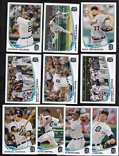 2013 Topps Series 1 & 2 & Update DETROIT TIGERS Complete 44 Card Team Set