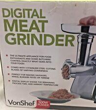 VonShef Digital Meat Grinder Electric Machine Sausage Food Countertop Q1 A2