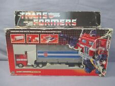 Transformers G1 OPTIMUS PRIME GRAY BLOATED METAL PLATES Complete Pre-Rub 1984