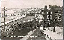 CHRISTCHURCH SERIES POSTCARD FELIXSTOWE BAY FROM CONVALESCENT HILL C1910