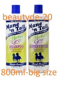 Mane 'N Tail Herbal Gro Shampoo & Conditioner 800ml-Combo Pack-Free UK Post!!!!!