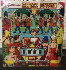 New Listing1968 Gottlieb Royal Guard Pinball Back Glass