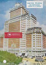 HOTEL PLAZA MADRID SPAIN 360 HABITACIONES PISCINA EN LA TERRAZA 1940'S AD