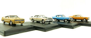 Road Ragers Muscle Car Set Ford Falcon XC GS XY Holden HG Monaro LJ Torano 1:87