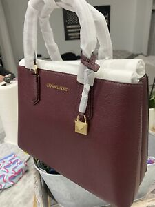 Michael Kors Adele Medium EW Convertible Satchel Refined Pebbled Leather 398