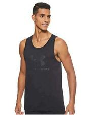 Under Armour Men's sportstyle logo Tank Top,, Black (001)/Black, Size Large qQ1h