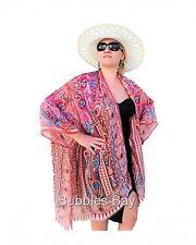 Silk Kimono Robe, Boho Style Silk Cover up, Kimono Jacket, Plus Size Kimon BROWN