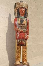 Frank Gallagher 5' WOODEN CIGAR STORE INDIAN Native American Made in USA