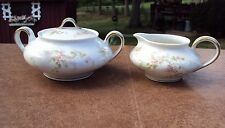 C 1895+  Theodore Haviland Creamer and Covered Sugar Bowl - Limoges France
