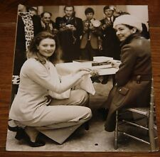 MARGOT FONTEYN VANESSA REDGRAVE NEWSPAPER PRESS PHOTO PHOTOGRAPH 2 WITH STAMPS