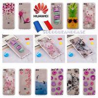 Etui housse coque Transparente Silicone Fashion TPU Case Cover Huawei P SMART