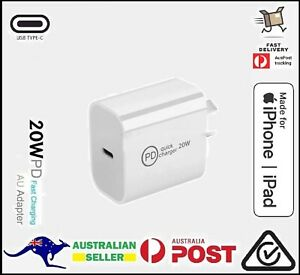 20W iPhone 12 Pro Max iPad USB Type C Wall Fast Charger PD Power Adapter AU plug