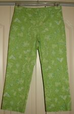 Lilly Pulitzer Green Animals with ice cream Capri Pants