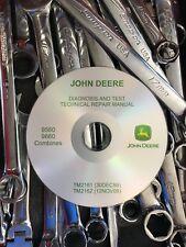 John Deere 9560 9660 Combine Walker Diagnosis and Test Manual TM2162 CD +BONUS