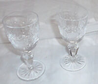 Schnaps- / Likörgläser - Kristall , 2 Stück H-9cm durchm.4cm