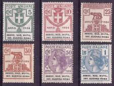 1924 REGNO D' ITALIA PARASTATALI NR.5/10 SERIETTA 6 VALORI NUOVO MNH**